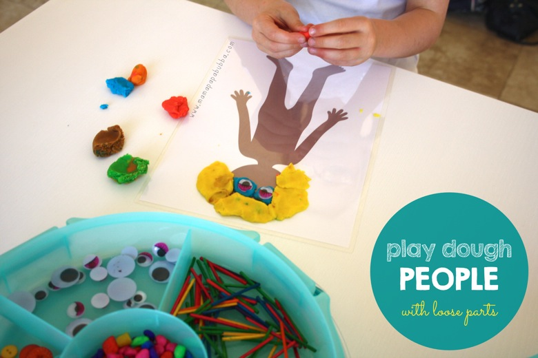 Play Dough People With Loose Parts | Mama Papa Bubba