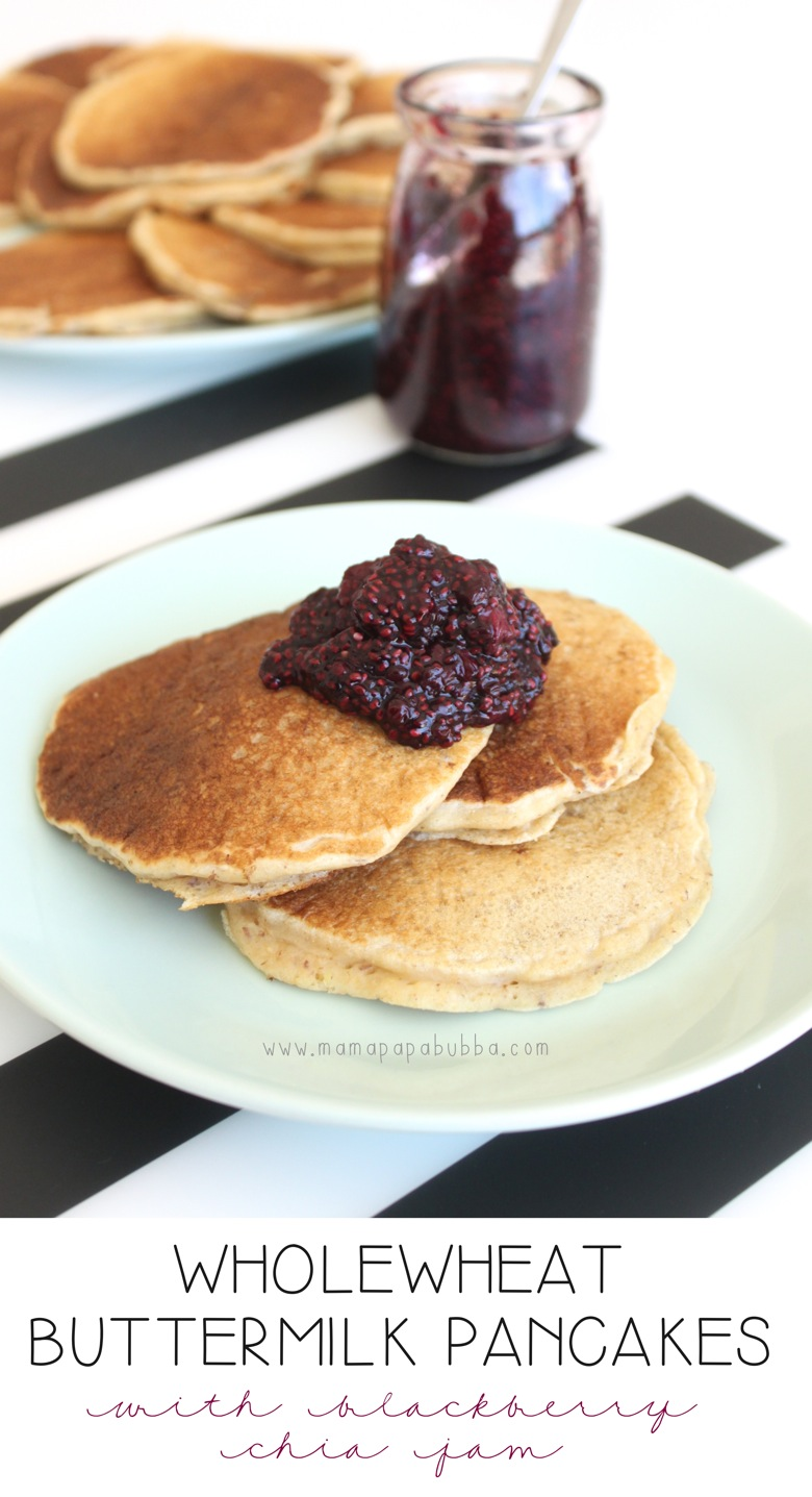 Wholewheat Buttermilk Pancakes | Mama Papa Bubba