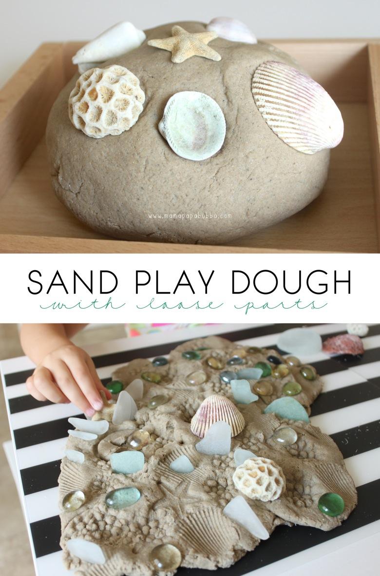 Sand Play Dough With Loose Parts | Mama Papa Bubba