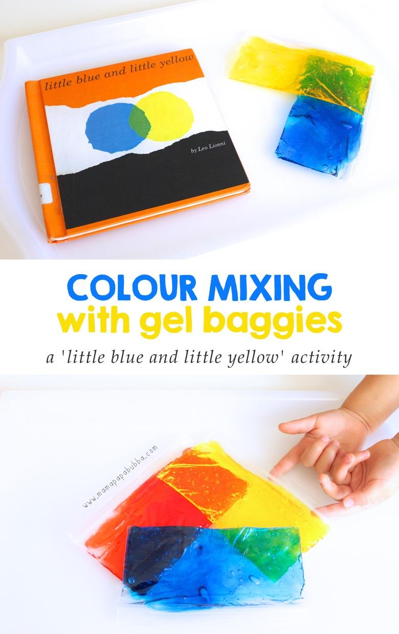 Colour Mixing With Gel Baggies | Mama Papa Bubba