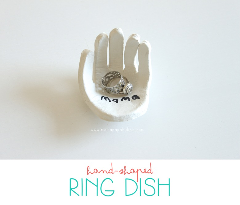 Hand Shaped Ring Dish for Mom | Mama Papa Bubba