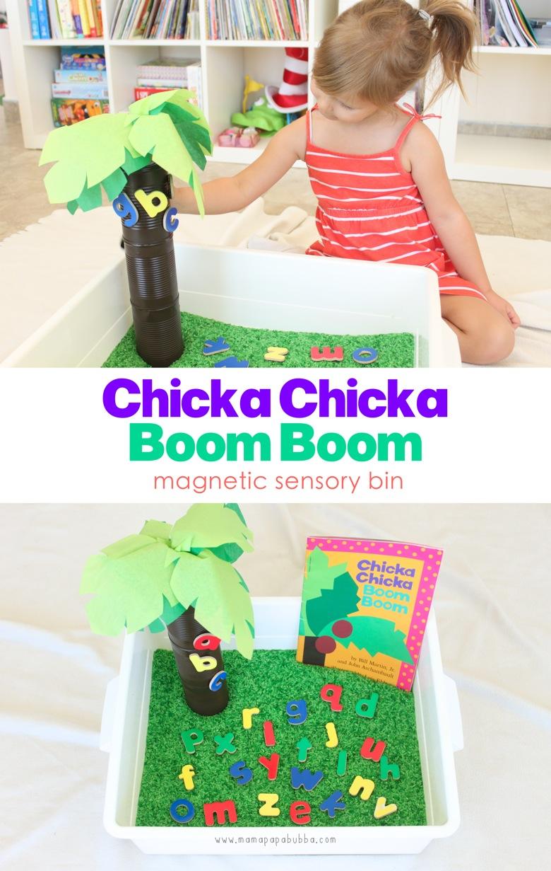 Chicka Chicka Boom Boom Magnetic Sensory Bin | Mama Papa Bubba