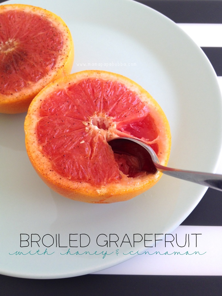 Broiled Grapefruit With Honey and Cinnamon | Mama Papa Bubba