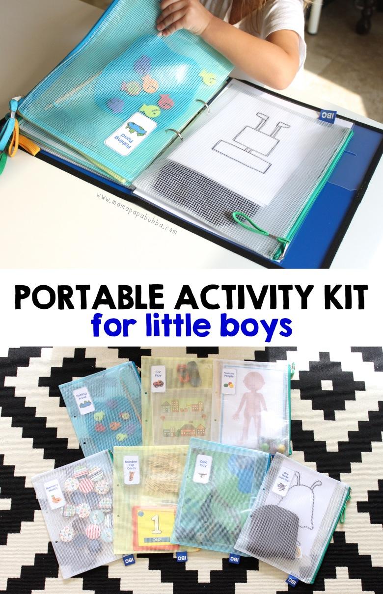 Portable Activity Kit for Little Boys | Mama Papa Bubba