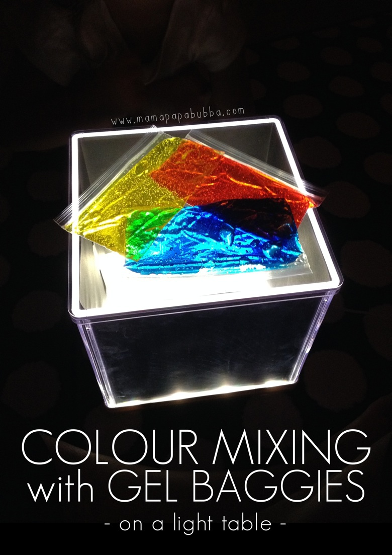 Colour Mixing With Gel Baggis On a Light Table | Mama Papa Bubba