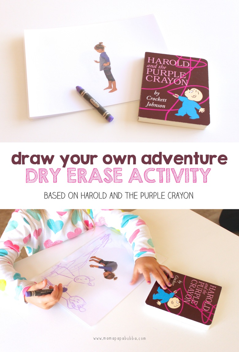 Draw Your Own Adventure Dry Erase Activity | Mama Papa Bubba