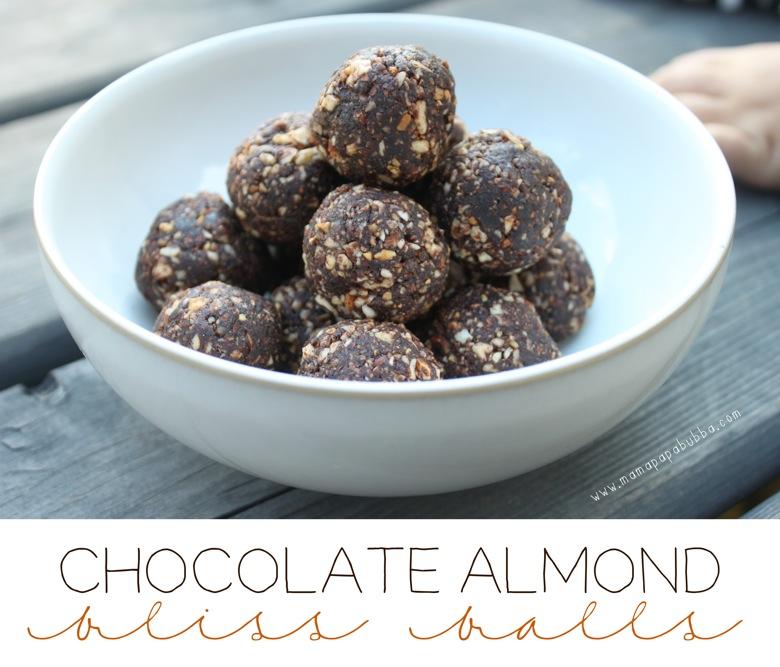 Chocolate Almond Bliss Balls | Mama Papa Bubba