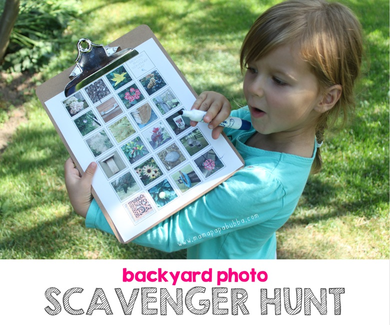 Backyard Photo Scavenger Hunt | Mama Papa Bubba