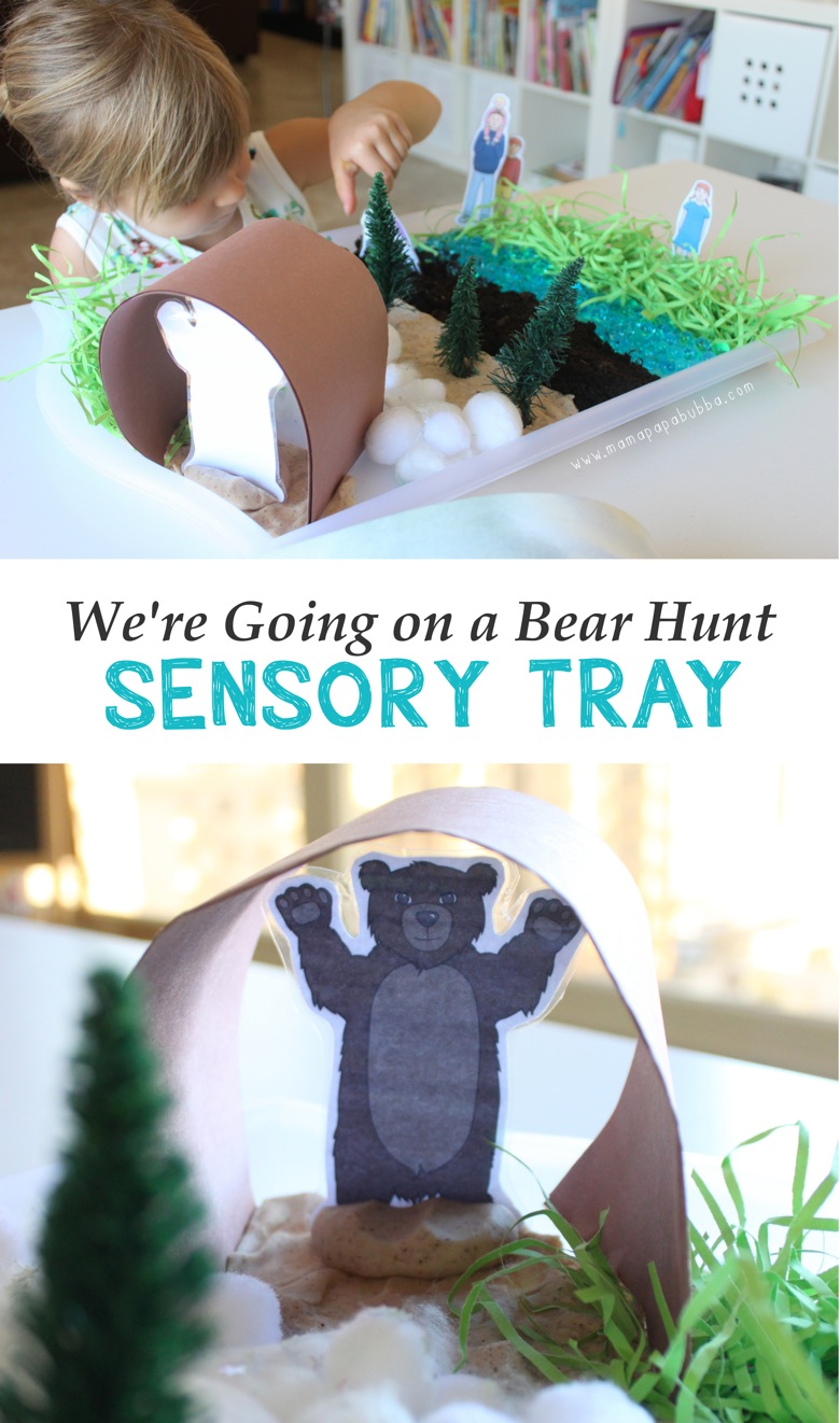 We re Going on a Bear Hunt Sensory Tray | Mama Papa Bubba
