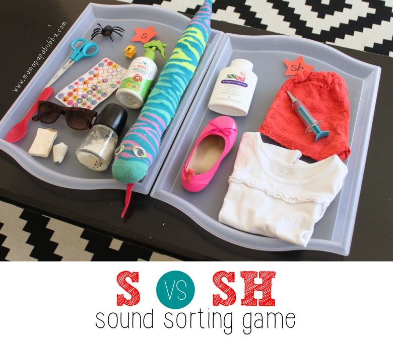 S vs SH Sound Sorting Game | Mama Papa Bubba