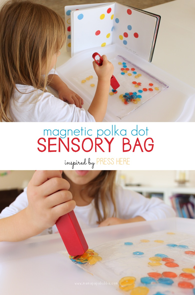 Magnetic Polka Dot Sensory Bag | Mama Papa Bubba