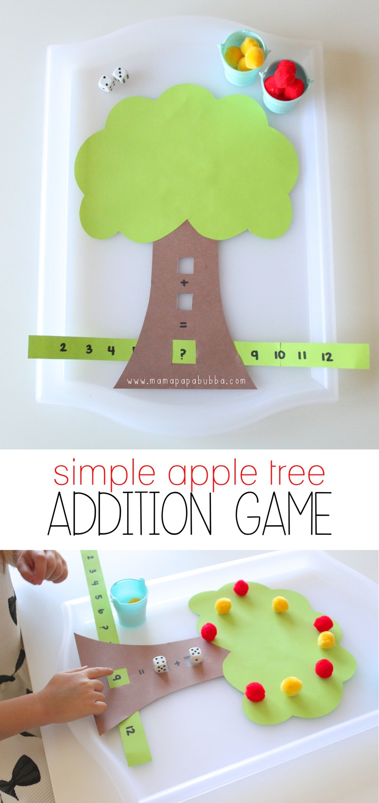 Simple Apple Tree Addition Game | Mama Papa Bubba