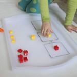 Simple LEGO Addition Tray