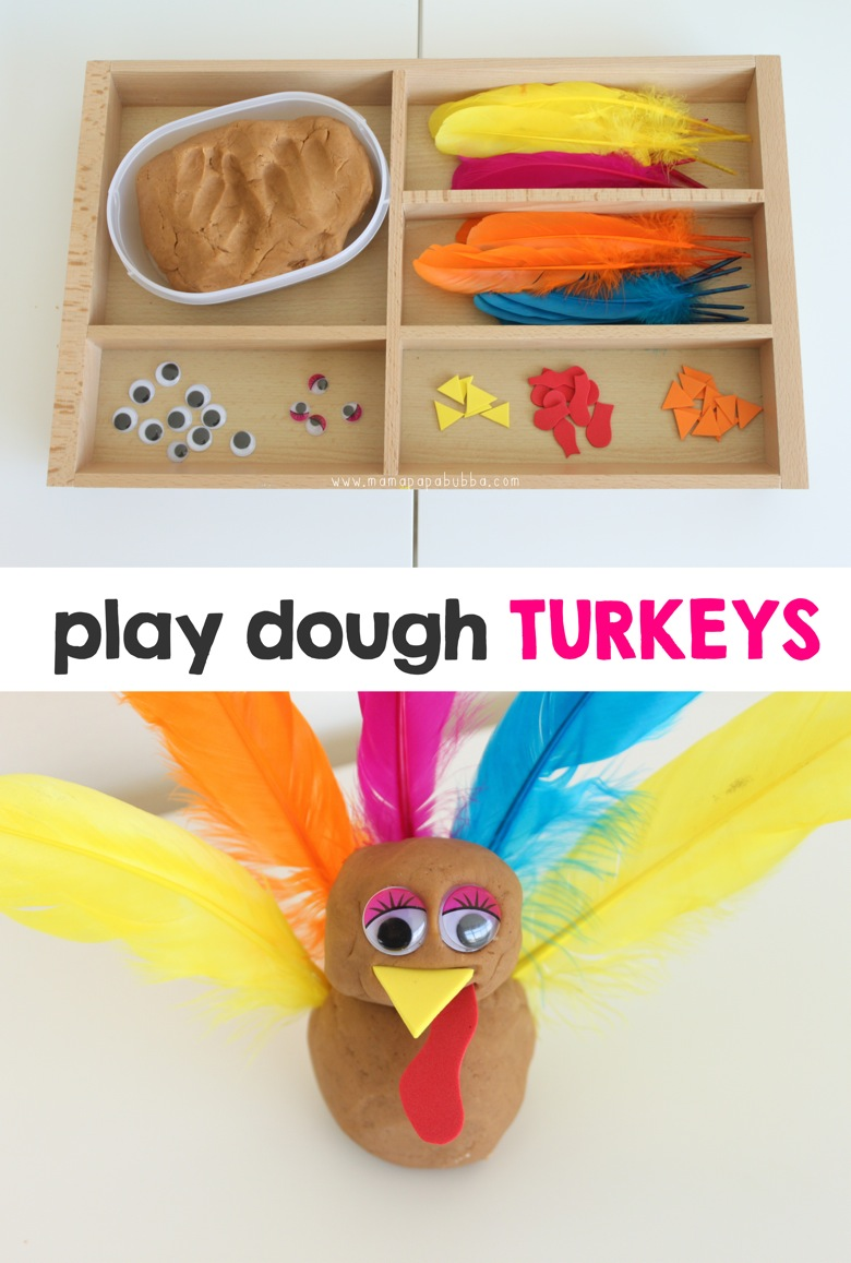 Play Dough Turkeys | Mama Papa Bubba