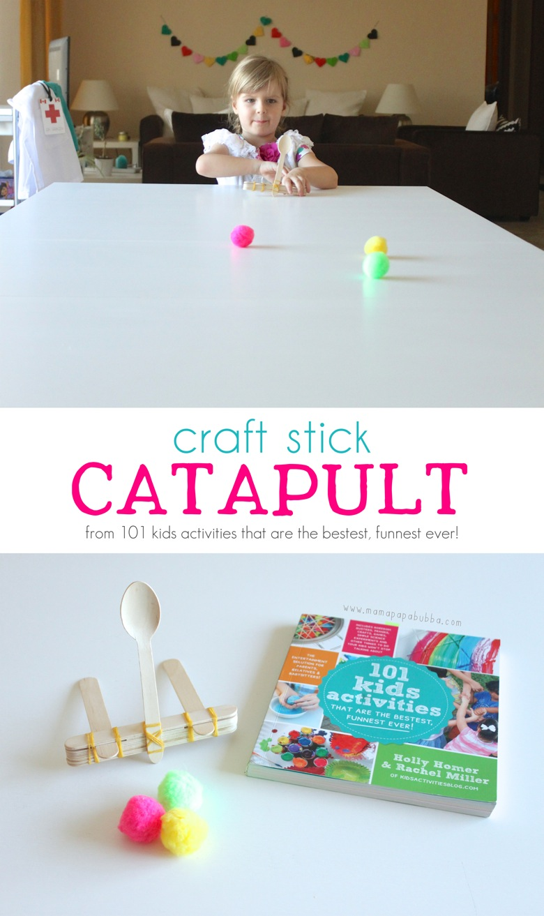 Craft Stick Catapult | Mama Papa Bubba