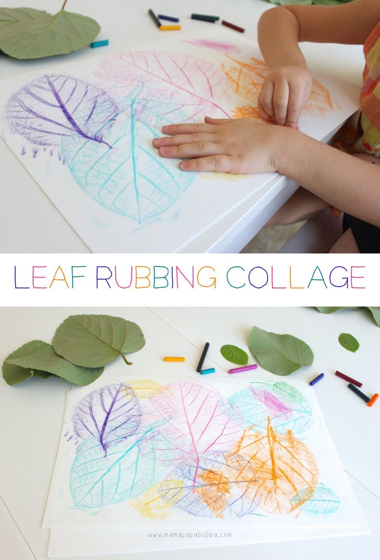 Leaf Rubbing Collage | Mama Papa Bubba