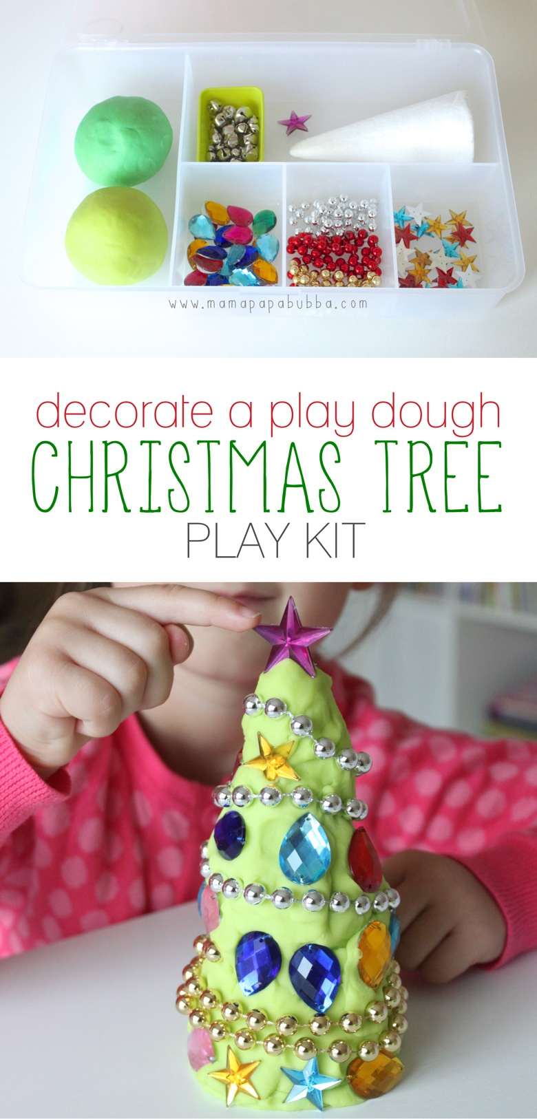 Decorate a Play Dough Christmas Tree Play Kit | Mama Papa Bubba