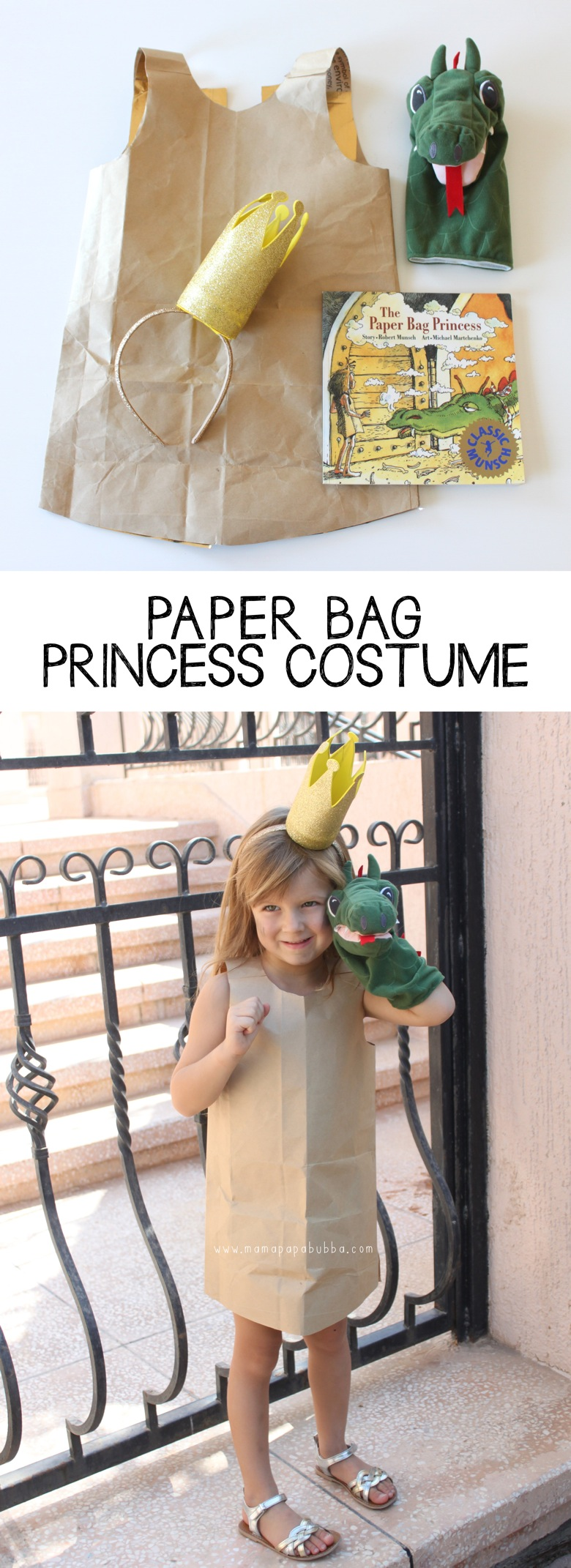 Paper Bag Princess Costume | Mama Papa Bubba