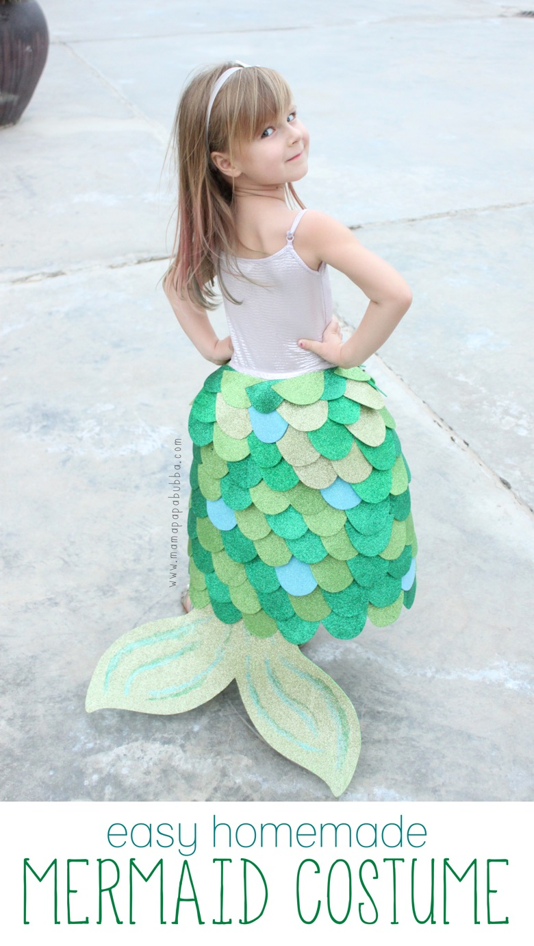 Easy Homemade Mermaid Costume | Mama Papa Bubba