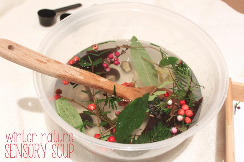 Winter Nature Sensory Soup | Mama Papa Bubba