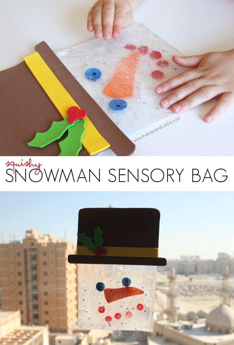 Squishy Snowman Sensory Bag | Mama Papa Bubba