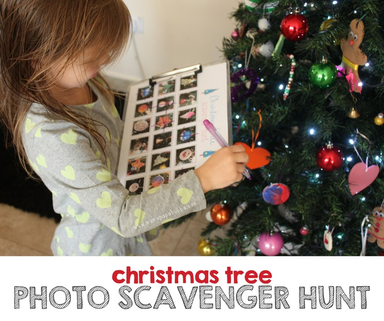 Christmas Tree Photo Scavenger Hunt | Mama Papa Bubba