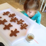 Making and Eating Gingerbread People Cookies {a first}