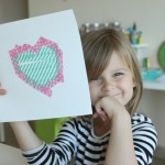 Washi Tape Heart Art