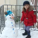 A Balcony Snowman