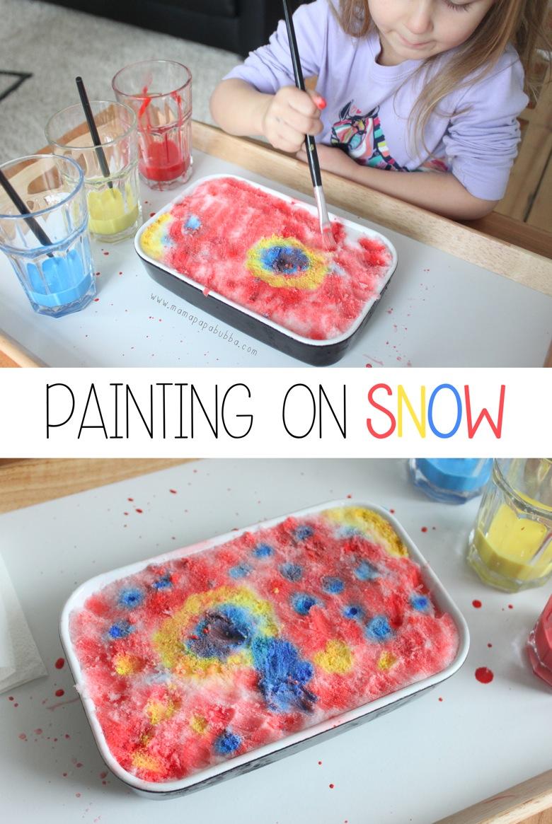 Painting on Snow | Mama Papa Bubba