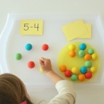 Play Dough Subtraction Smash