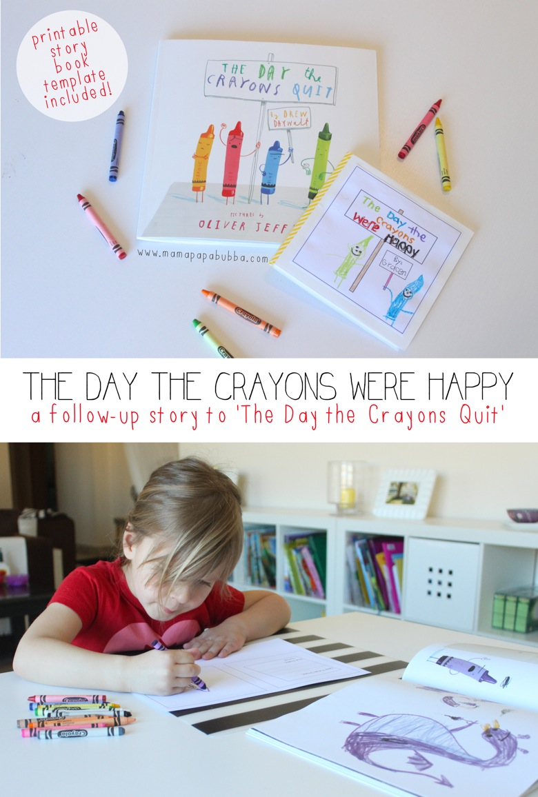 The Day the Crayons Quit Follow Up Story | Mama Papa Bubba