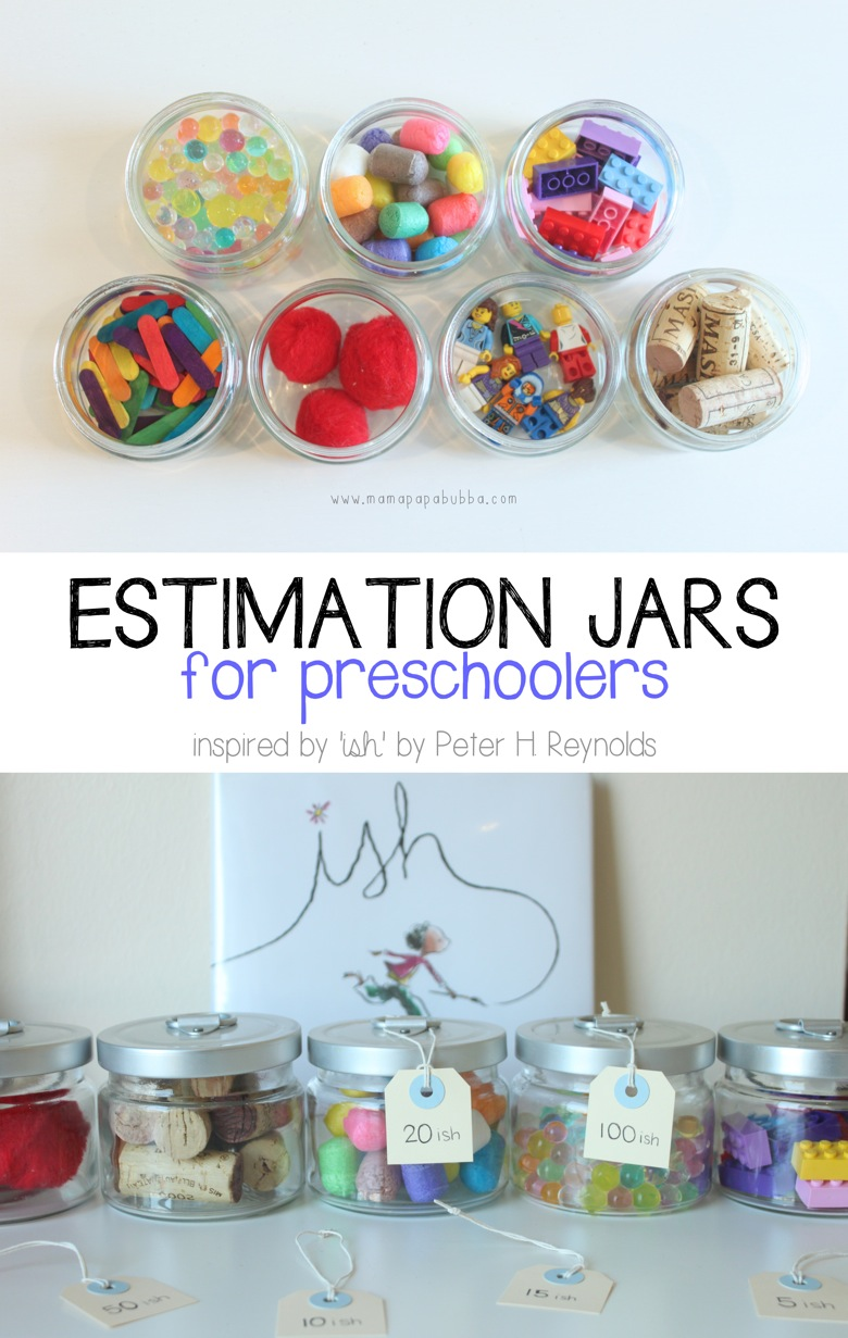 Estimation Jars for Preschoolers | Mama Papa Bubba