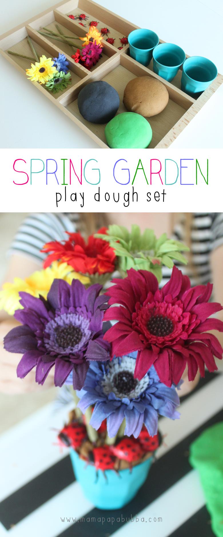 Spring Garden Play Dough Set   Mama Papa Bubba