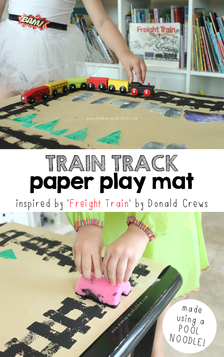 Train Track Paper Play Mat | Mama Papa Bubba