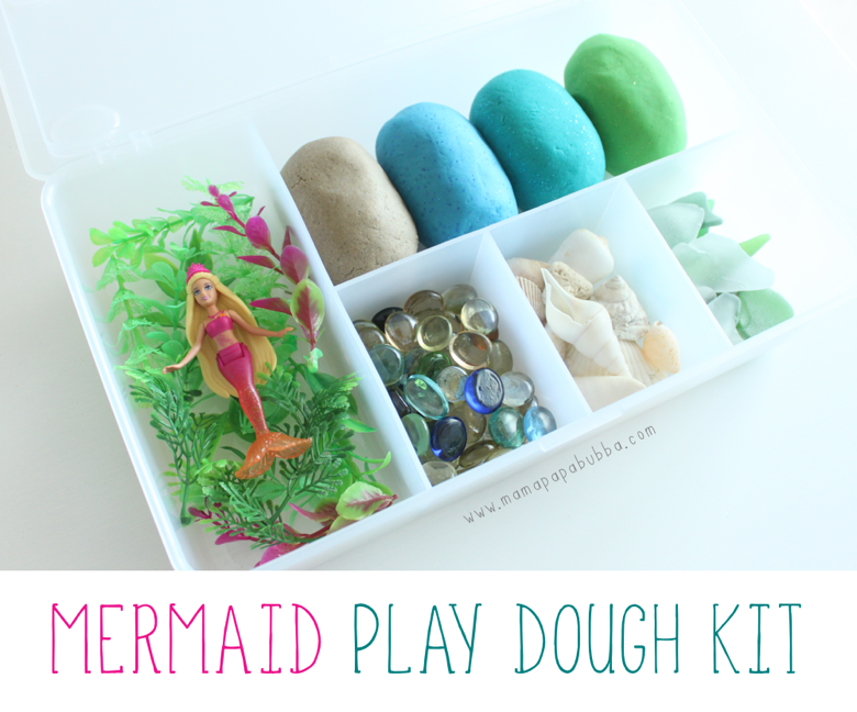 Mermaid Play Dough Kit | Mama Papa Bubba