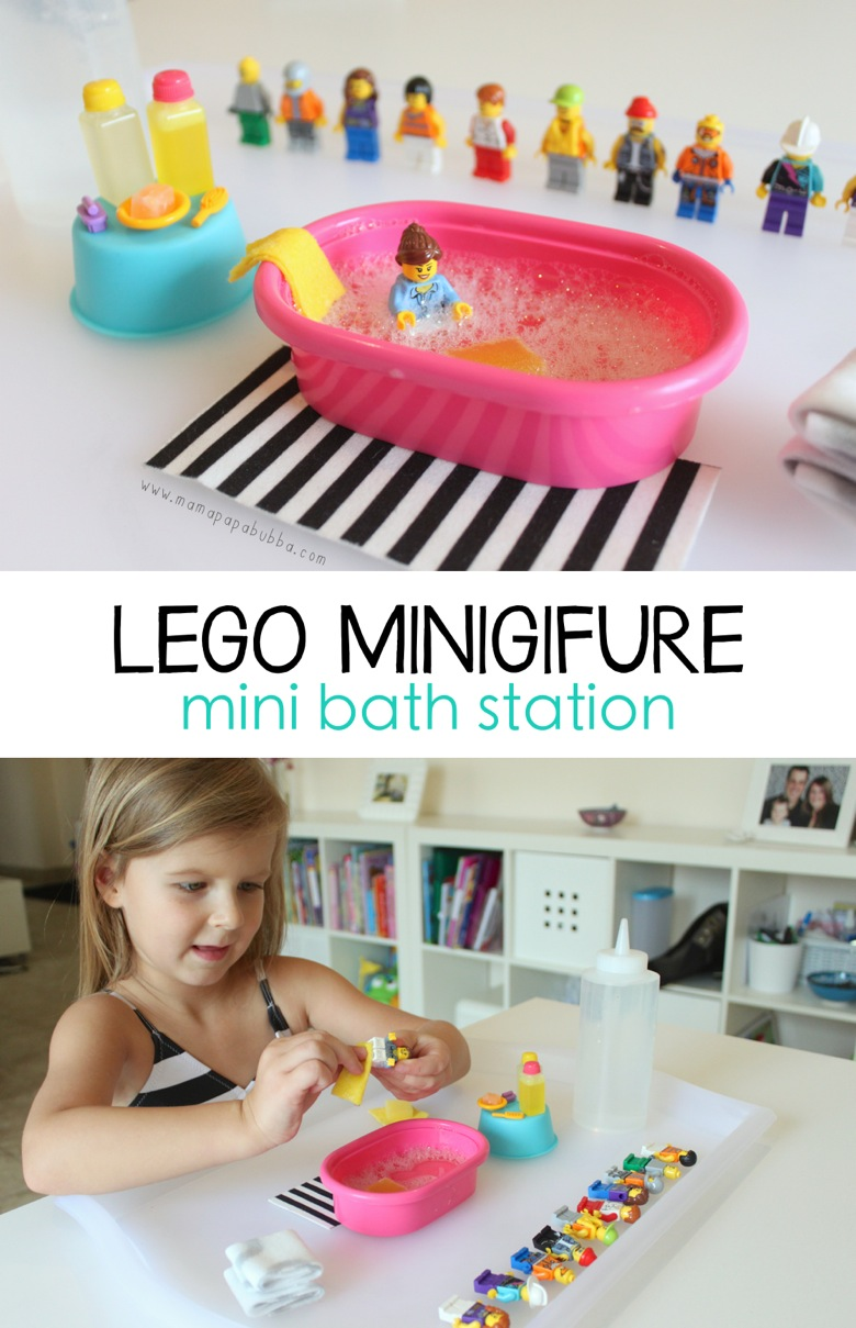 LEGO Minifigure Mini Bath Station | Mama Papa Bubba