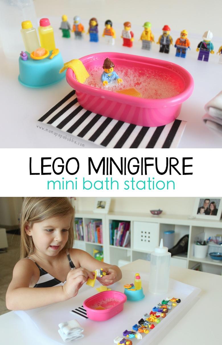 LEGO Minifigure Mini Bath Station   Mama Papa Bubba