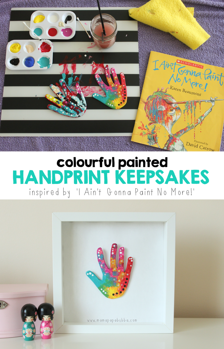 Colourful Painted Handprint Keepsakes | Mama Papa Bubba