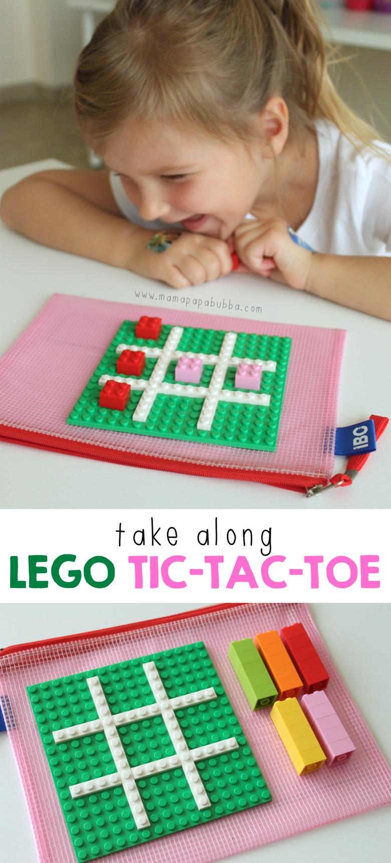 Take Along LEGO Tic Tac Toe | Mama Papa Bubba
