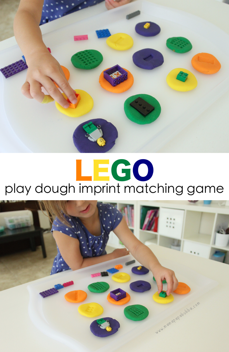 LEGO Play Dough Imprint Matching Game | Mama Papa Bubba