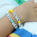 Easy Kid-Made Phone Number Bracelets