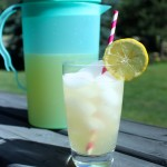 Homemade Lemonade Sweetened With Pure Maple Syrup