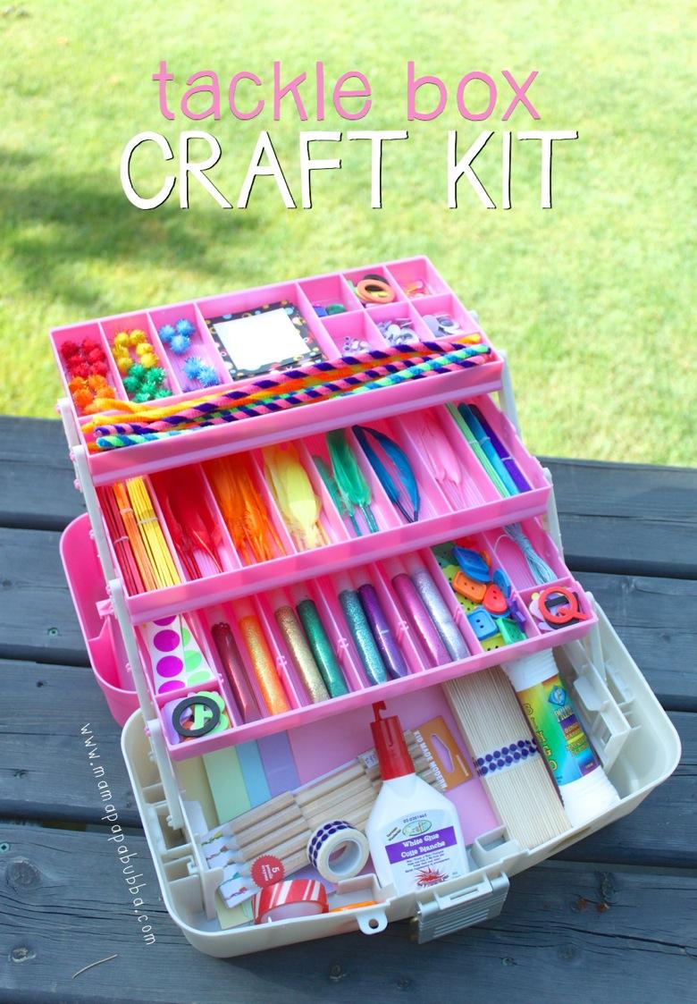 Fishing tackle craft supplies - Tackle Box Craft Kit Mama Papa Bubba