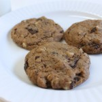 Wholewheat Dark Chocolate Chunk Cookies {sweetened with coconut sugar}