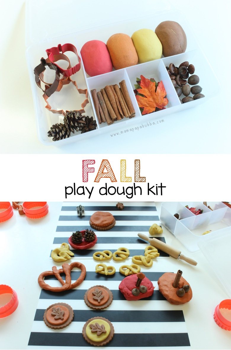 Fall Play Dough Kit | Mama Papa Bubba