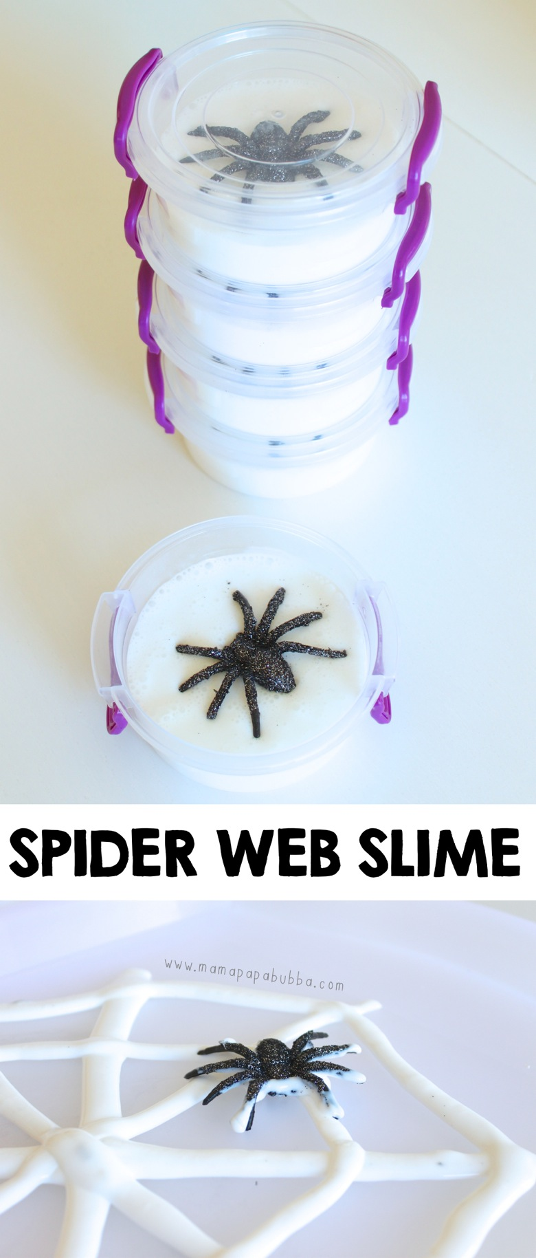 Spider Web Slime Halloween Favours | Mama Papa Bubba