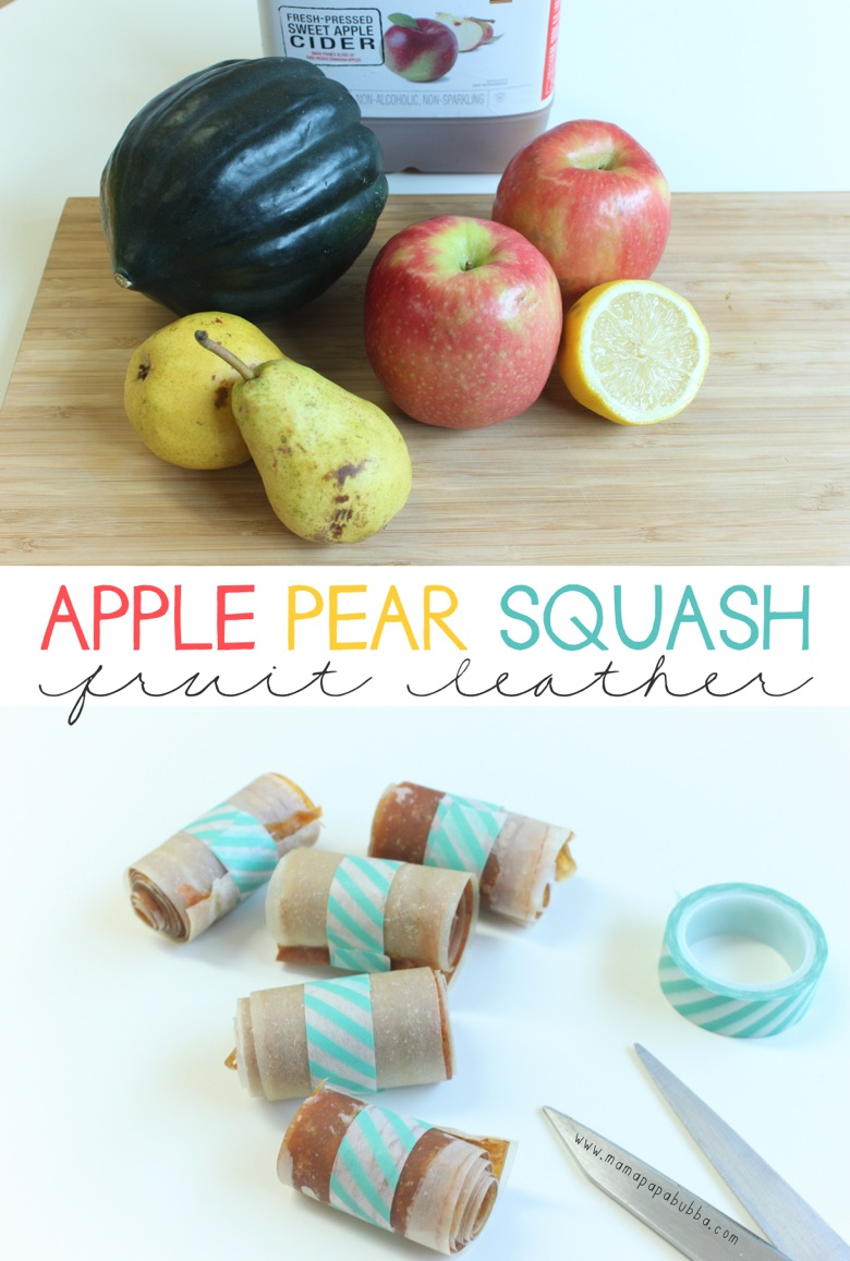 Apple Pear Squash Fruit Leather | Mama Papa Bubba