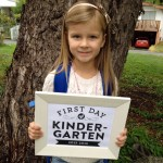 Miss G's First Day of Kindergarten