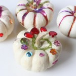 Glittery Bejeweled Mini Pumpkins